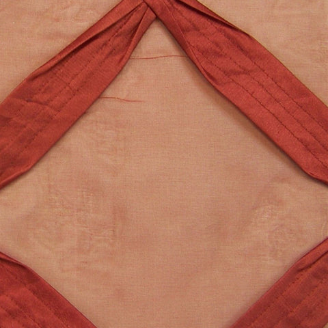 Drapery Fabric Silk Ribbon Lattice On Voile Campeche Clay Toto Fabrics
