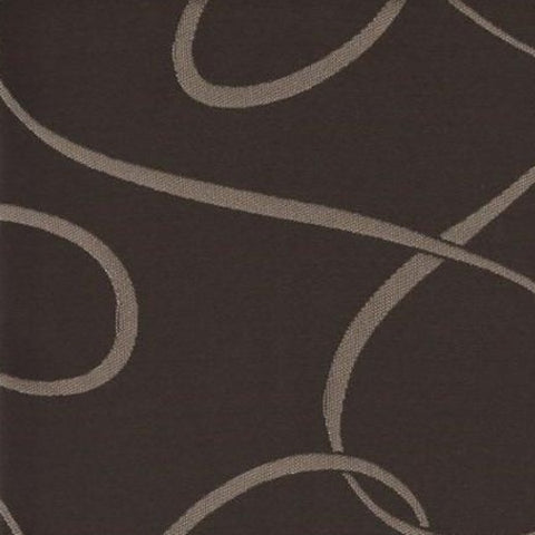 Drapery Fabric Neutral Botanical Design Erin  Espresso Toto Fabrics