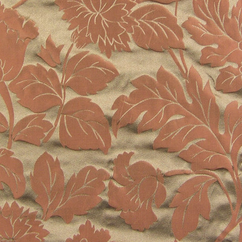 Drapery Fabric Lustrous Floral Luxor Coral Toto Fabrics