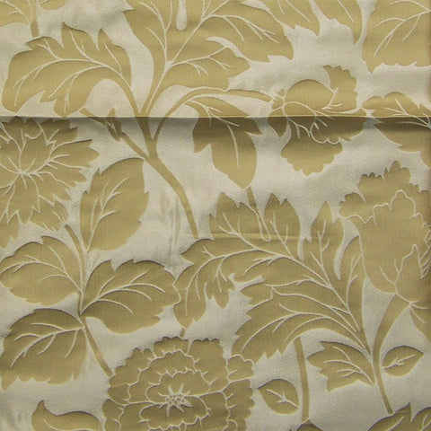 Drapery Fabric Lustrous Floral Luxor Gold Toto Fabrics