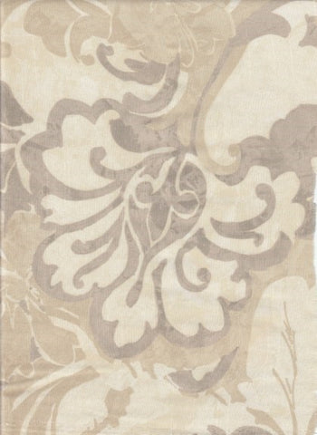 Drapery Fabric Neutral Floral Malley Sandstone Toto Fabrics