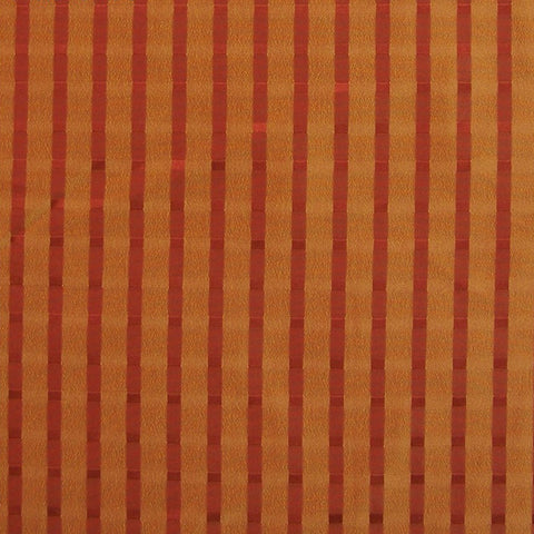 Drapery Fabric Orange Candy Stripe  Milazzo Spice Toto Fabrics