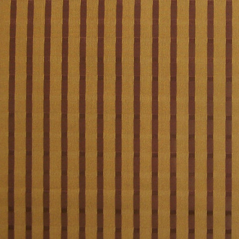 Drapery Fabric Brown Candy Stripe  Milazzo Toffee Toto Fabrics