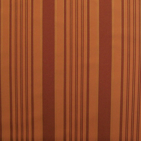 Drapery Fabric Multi Stripe Naples Terracotta Toto Fabrics