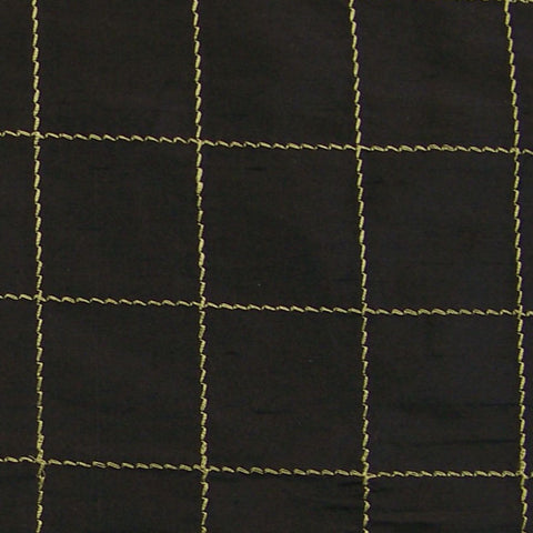 Drapery Fabric Embroidered Silk Taffeta Panes Black Toto Fabrics