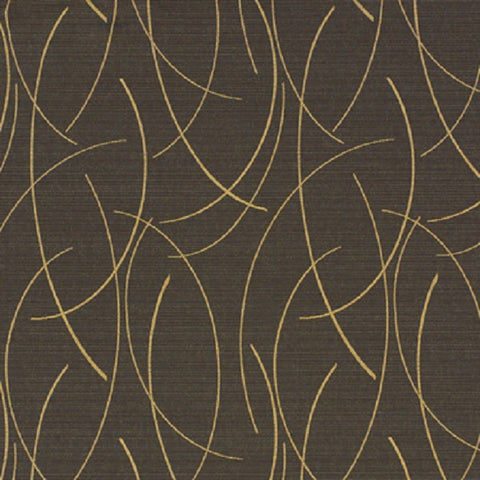 Momentum Drift Beacon Curved Line Black Upholstery Fabric
