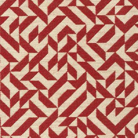 Knoll Textiles Upholstery Fabric Remnant Eclat Weave Scarlet