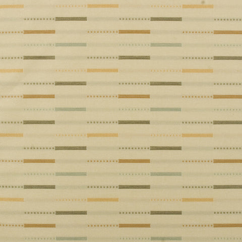 Arc-Com ETC Pebble Colorful Staggered Stripe Beige Upholstery Fabric