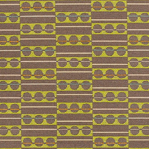 Momentum Focal Citron Geometric Gray Upholstery Fabric