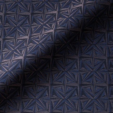 Fortune Teller Slip N Slide Blue Geometric Circle Upholstery Fabric