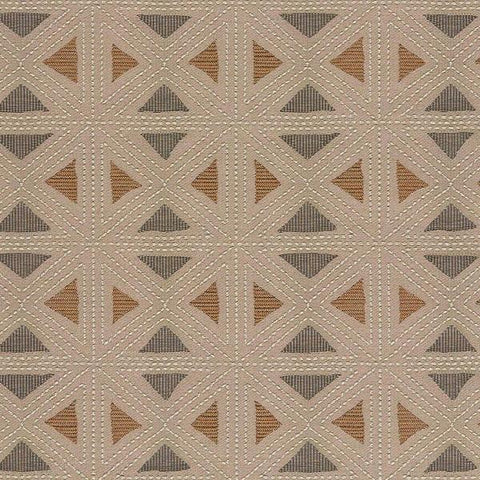 Arc-Com Fabrics Upholstery Fabric Textured Triangles Geostitch Stone