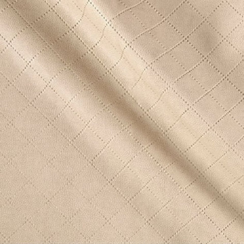 Richloom Fabrics Gorman Cream Solid Beige Faux Leather Upholstery Vinyl