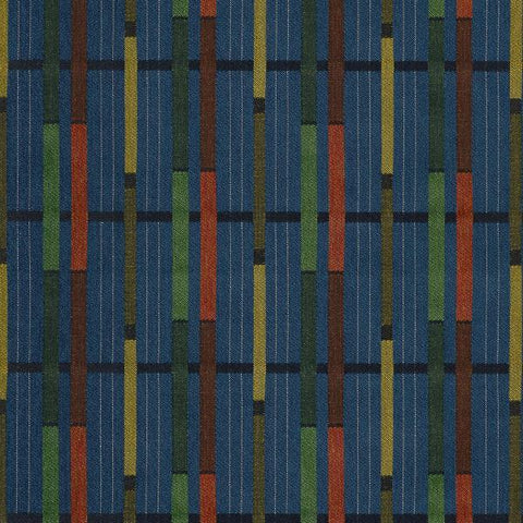 Arc-Com Grand Central Caribbean Modern Stripe Upholstery Fabric