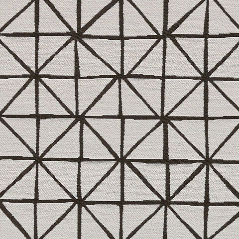 Remnant of Arc-Com Grid Snow White Upholstery Fabric