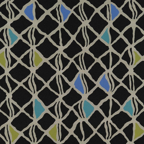 Arc-Com Hanji Midnight Modern Black Upholstery Fabric