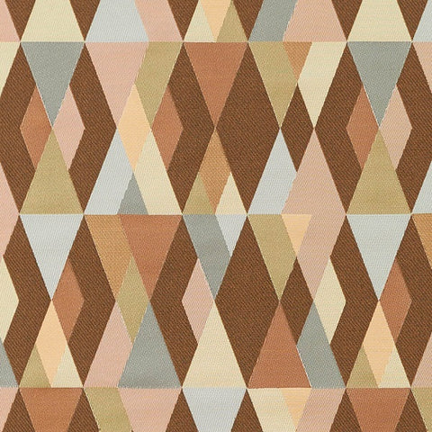 Arc-Com Harlequin Adobe Layered Diamond Design Brown Upholstery Fabric