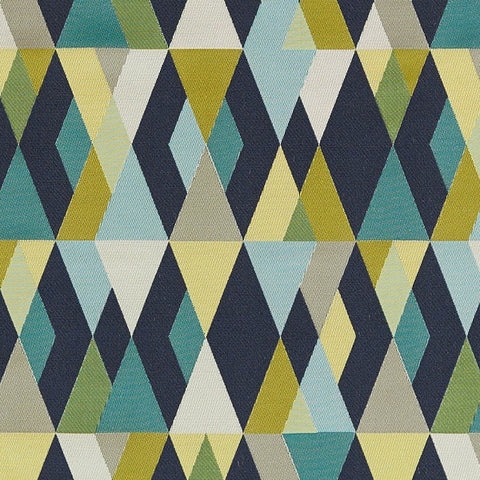 Arc-Com Fabrics Upholstery Fabric Layered Diamond Design Harlequin Midnight