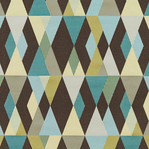Arc-Com Upholstery Fabric Remnant Harlequin Mint Chocolate