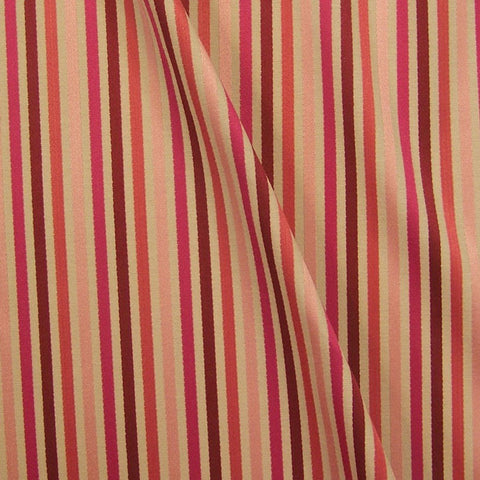 Home Decor Fabric Candy Stripe Cayman Bordeaux Toto Fabrics
