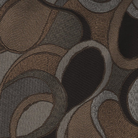Home Decor Fabric Modern Abstract Loops Harpo Sepia Toto Fabrics