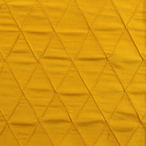 Home Decor Fabric Gold Diamond Design Silk Silk Quilted Lozenges
