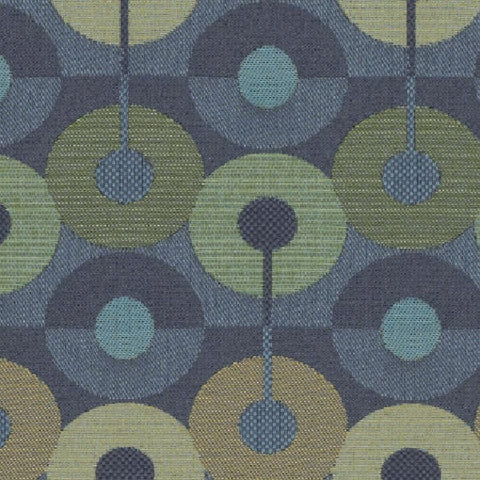 Mayer Circumference Turquoise Upholstery Fabric