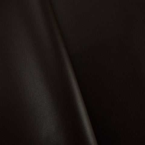 Swavelle Keagan Chocolate Solid Brown Faux Leather Upholstery Vinyl