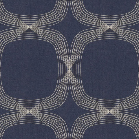 Arc-Com Fabrics Upholstery Fabric Remnant Kinetic Blueberry
