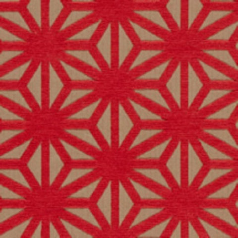 Arc-Com Fabrics Upholstery Fabric Remnant Kirigami Flame