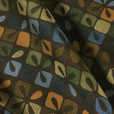 Knoll Chronicle Draganfly Abstract Floral Green Upholstery Fabric