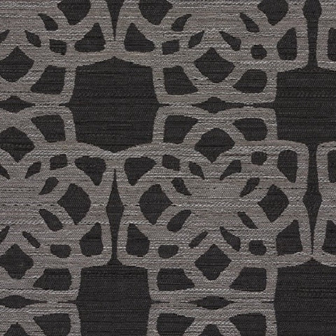 Designtex Lattice Charcoal Durable Black Upholstery Fabric