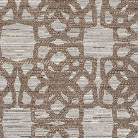 Designtex Lattice Taupe Durable Beige Upholstery Fabric