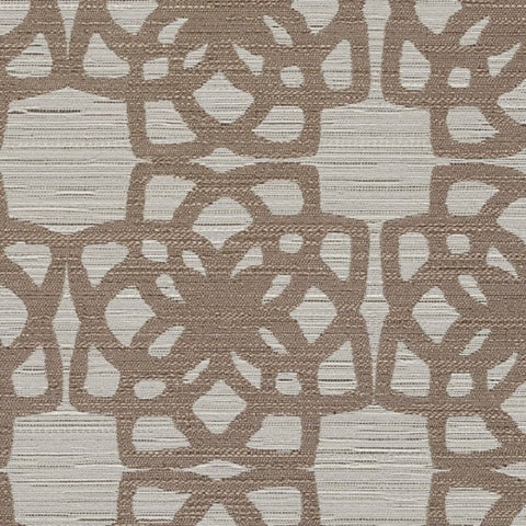 Remnant of Designtex Lattice Taupe Upholstery Fabric