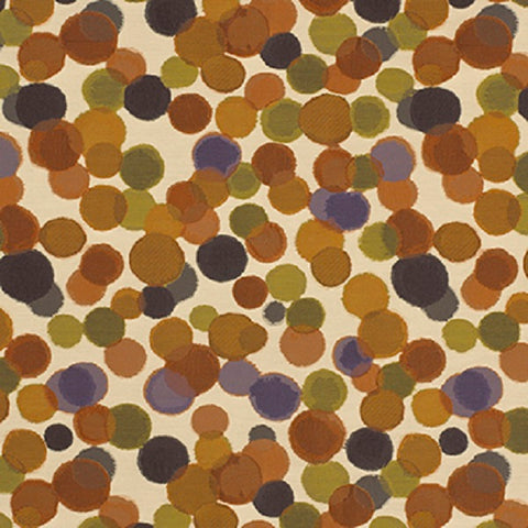 Momentum Lina Sienna Overlapping Circles Orange Upholstery Fabric