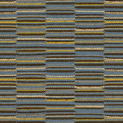 Momentum Textiles Upholstery Fabric Staggered Stripe Line Up Tranquil