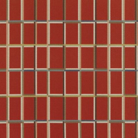 Remnant of Maharam Shadowbox Brick Red Upholstery Fabric