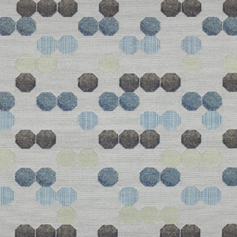 Momentum Textiles Upholstery Fabric Colorful Geometric Mensa Tranquil