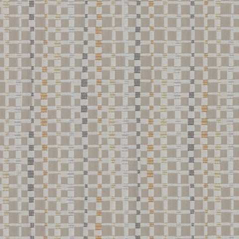 Maharam Multiply Winter Small Check Beige Upholstery Fabric