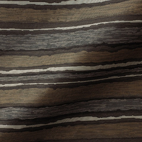 Pallas Painted Stripe Carbon Brown Upholstery Fabric