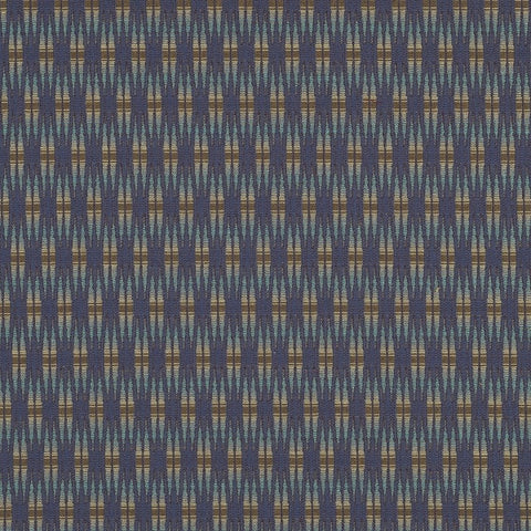 Pallas Inlay Navy Upholstery Fabric