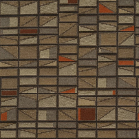 Maharam Pennant Winterberry Geometric Brown Upholstery Fabric