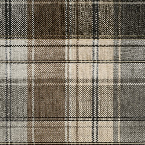 Designtex Plaid Sparrow Brown Upholstery Fabric 3872 101