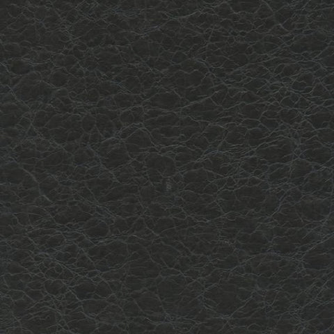 Remnant of Ultraleather Pompeii Night Shadow Black Upholstery Vinyl