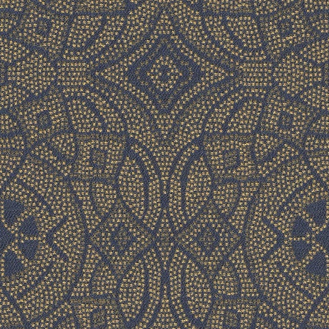 Arc-Com Fabrics Upholstery Fabric Stippled Arabesque Ravenna Sapphire