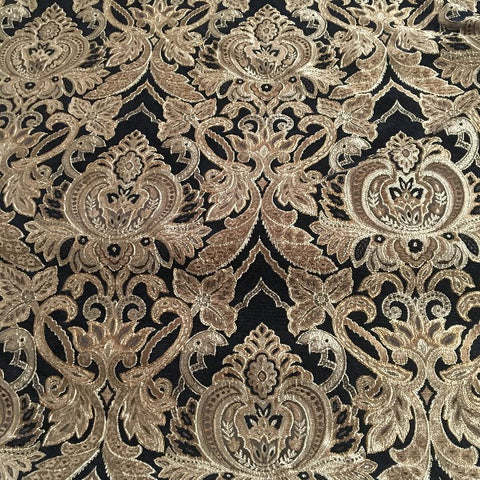 Romo Onyx Victorian Tapestry Black Upholstery Fabric Swavelle Mill Creek