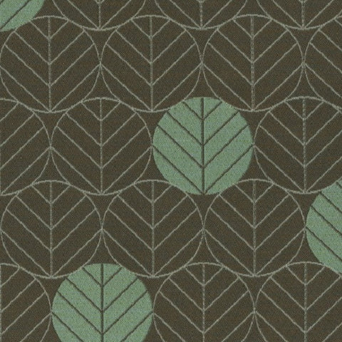 Designtex Fabrics Upholstery Fabric Remnant Round Leaves Pine