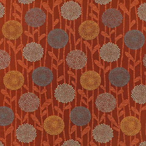Remnant of Momentum Chipper Paprika Upholstery Fabric