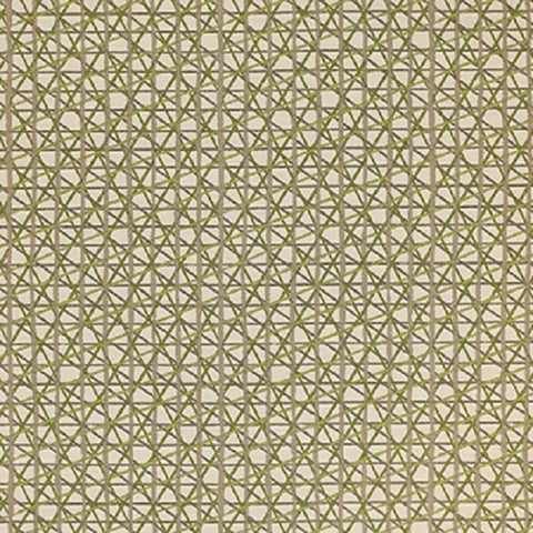 Momentum Sketching Air Alpine Criss Cross Design Green Upholstery Fabric
