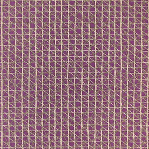 Remnant of Momentum Sketching Air Indigo Purple Upholstery Fabric
