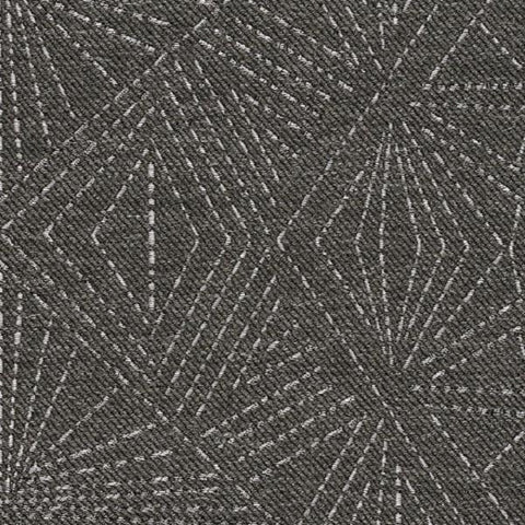 Designtex Starburst Dark Charcoal Geometric Wool Blend Upholstery Fabric